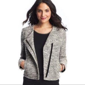 Ann Taylor LOFT Textured Tweed Moto Jacket
